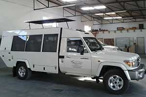 Toyota Land Cruiser converted to 8 seater