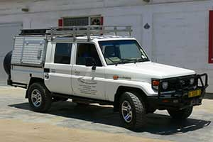 Toyota Land Cruiser Double Cab with 4 seats