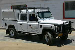 Land Rover Double Cab with 4 seats